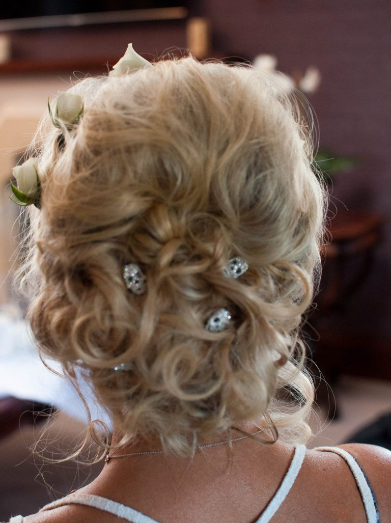Quirky, curly updo