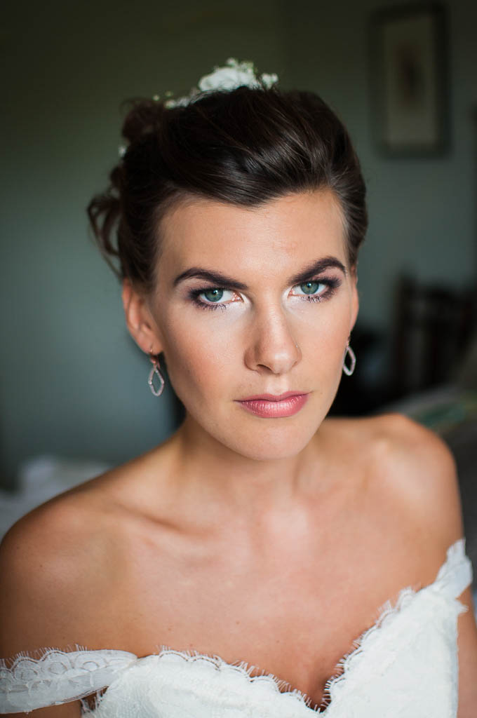 Lucy's bridal smokey makeup