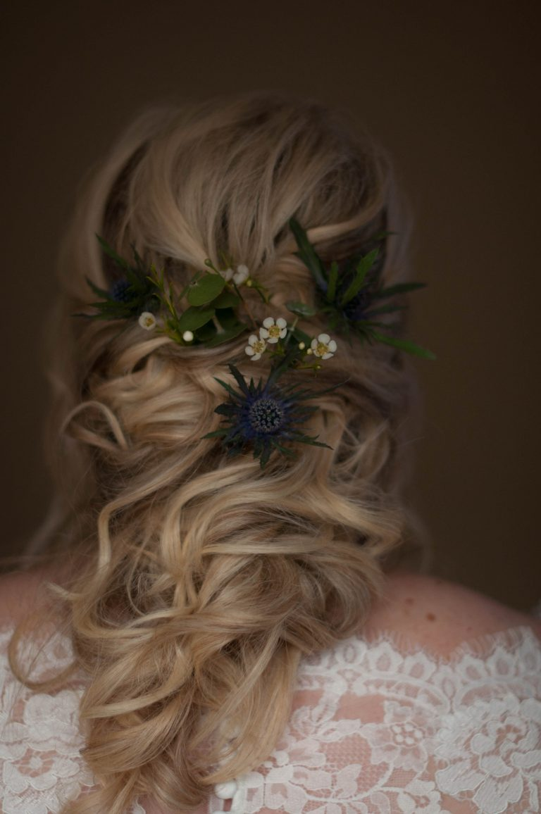 Gorgeous, soft half-up do