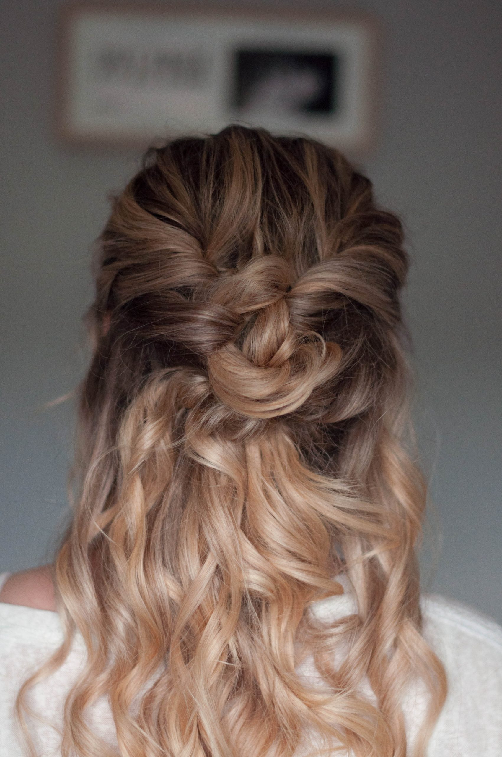 Whimsical boho half-up do