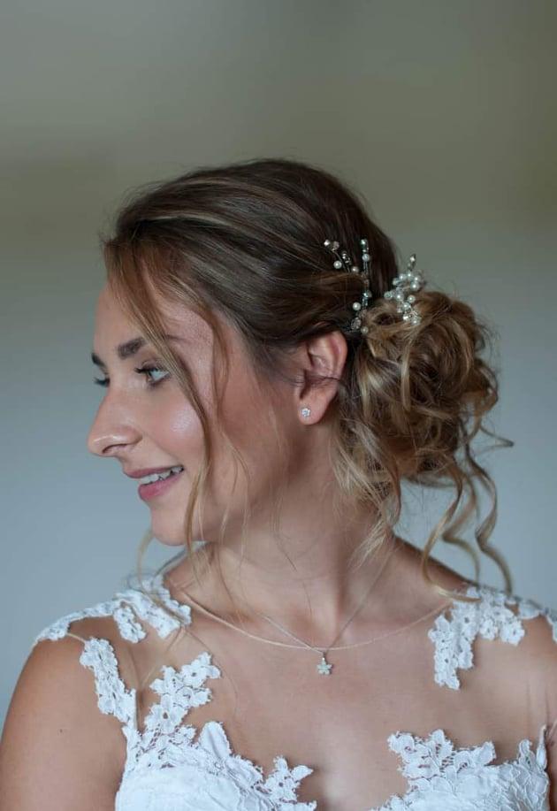 bridal makeup airbrush wedding updo
